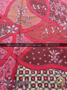 Batik Kontemporer Modern Kombinasi Merah