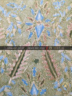 Batik Tulis Warna Alam Motif Pakis Haji Hijau
