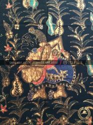 Bahan Baju Batik – Kain Batik Tulis Motif Wayang Semar Latar Hitam 8b21646c5a