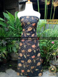Bahan Baju Batik – Kain Batik Tulis Motif Lereng Gede Latar Hitam