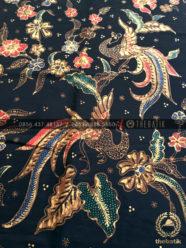 Bahan Baju Batik – Kain Batik Tulis Motif Burung Peksi Latar Hitam 726c806947