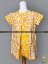 Model Baju Batik Modern Anak Perempuan Kuning Parang