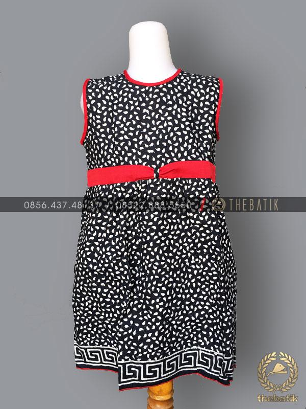 Dress Batik Modern Anak Perempuan Hitam Merah