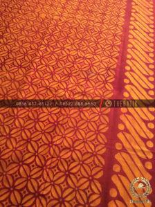 Kain Batik Bahan Baju Motif Kawung Orange