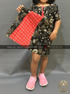 Model Baju Batik Modern Anak Perempuan Kupu Klasik