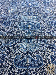 Kain Batik Tulis Warna Alam Motif Wahyu Tumurun Biru