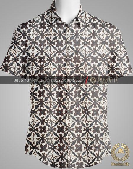 Model Baju Kemeja Seragam Batik Kantor / Keluarga Motif Klasik-6