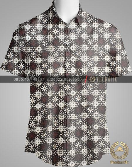Model Baju Kemeja Seragam Batik Kantor / Sarimbit Keluarga Klasik-1