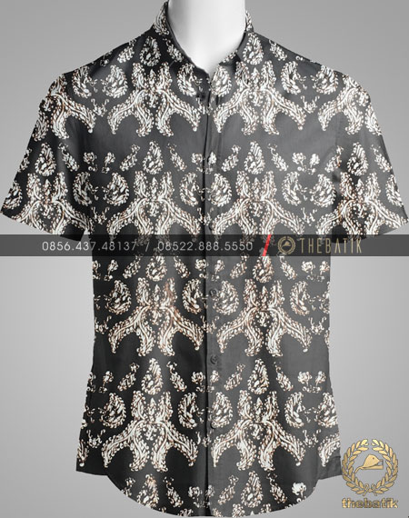 Model Baju Kemeja Seragam Batik Kantor / Sarimbit Keluarga Klasik-3