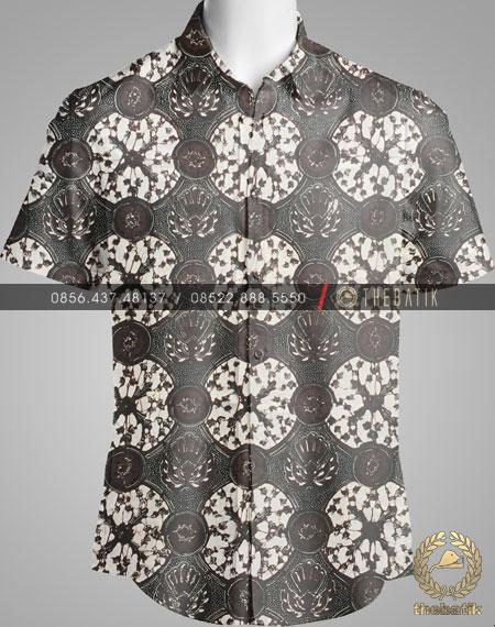 Model Baju Kemeja Seragam Batik Kantor / Keluarga Motif Klasik-4
