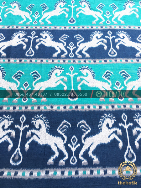 Bahan Batik Bagus Murah Model Kuda Tenun Biru