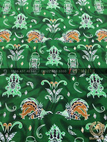 Kain Batik Papua Bahan Halus Meteran Warna Hijau