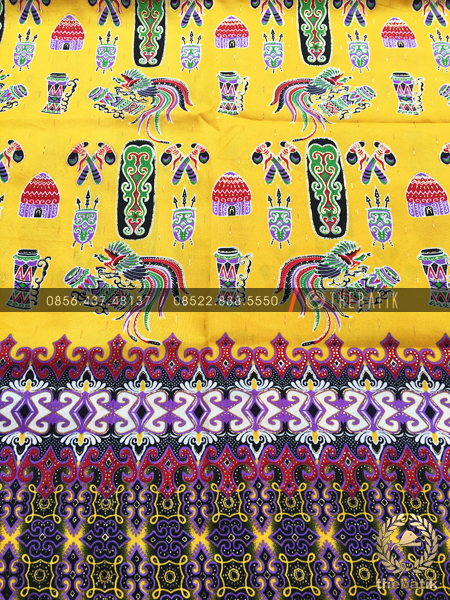 Kain Batik Meteran Motif Papua Warna Kuning