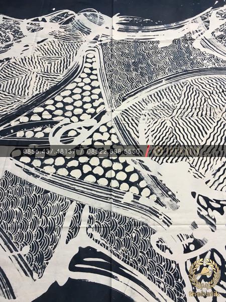Kain Batik Gradasi Lukis Hitam Putih