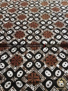 Kain Batik Lawasan Klasik Kawung Kembang Hitam